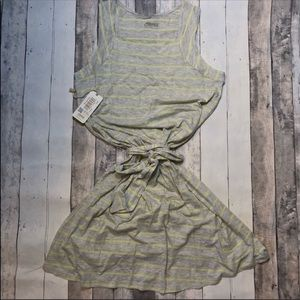 NWT Mountain Khaki A Line Casual Dress L